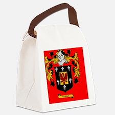 3 Lapel Sticker Canvas Lunch Bag