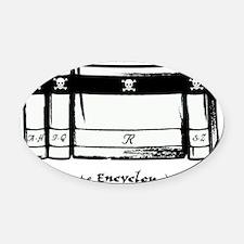 PIRATE ENC IN PROGRESS Oval Car Magnet