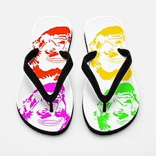 Lincoln Warhol Neon Flip Flops