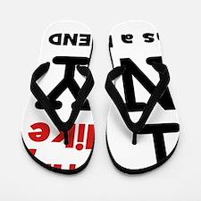Like NY As Friend Black Flip Flops