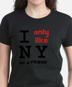 Like NY As Friend Black Tee