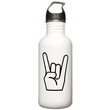Rock Fingers White Water Bottle