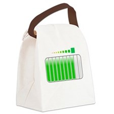Sarcastic Comment Loading White Canvas Lunch Bag