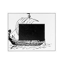 Viking Ship Black Picture Frame