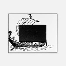 Viking Ship Black Picture Frame