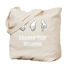 Rock Paper Scissors Weapon White Tote Bag