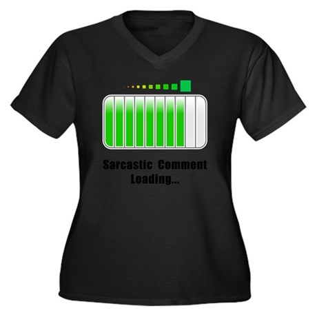 Sarcastic Co Women's Plus Size Dark V-Neck T-Shirt