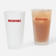 Unstoppable White Drinking Glass