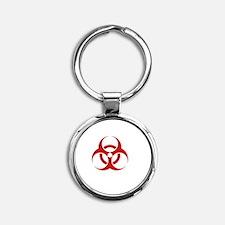 Zombie Response Team White Round Keychain