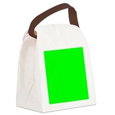 Lime Green Tile Canvas Lunch Bag