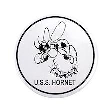 """CV-8 USS HORNET Multi-purpose Aircraft 3.5"""" Button"""