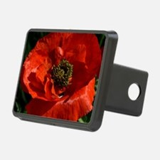Vibrant Red Poppy Hitch Cover