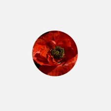 Vibrant Red Poppy Mini Button