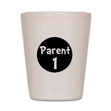 Parent 1 White Shot Glass