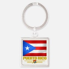 Puerto Rico (Flag 10) Square Keychain