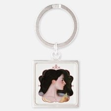 Woman_in_Frame_lo Square Keychain