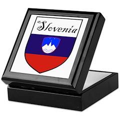 Slovenia Flag Crest Shield Keepsake Box