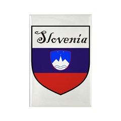 Slovenia Flag Crest Shield Rectangle Magnet (10 pa