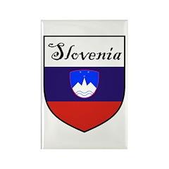 Slovenia Flag Crest Shield Rectangle Magnet