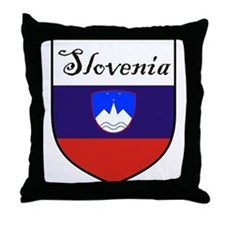 Slovenia Flag Crest Shield Throw Pillow