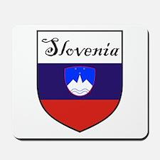Slovenia Flag Crest Shield Mousepad