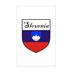 Slovenia Flag Crest Shield Posters