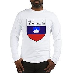 Slovenia Flag Crest Shield Long Sleeve T-Shirt