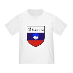 Slovenia Flag Crest Shield Toddler T-Shirt