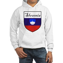 Slovenia Flag Crest Shield Hoodie