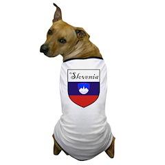 Slovenia Flag Crest Shield Dog T-Shirt
