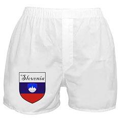 Slovenia Flag Crest Shield Boxer Shorts