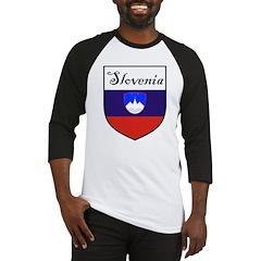 Slovenia Flag Crest Shield Baseball Jersey
