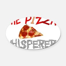Pizza Lovers Oval Car Magnet