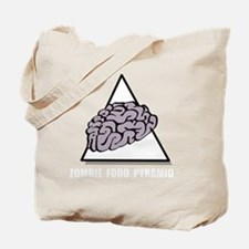 Zombie Food Pyramid White Tote Bag