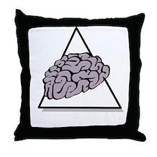 Zombie Food Pyramid White Throw Pillow