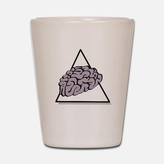 Zombie Food Pyramid White Shot Glass