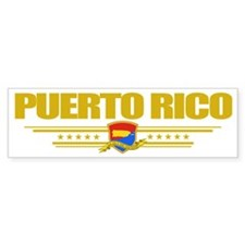 Puerto Rico (Flag 10) pocket Bumper Sticker