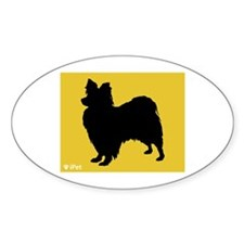 Papillon iPet Oval Decal
