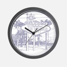 LasVegas_10x10_WelcomeSign_Blue Wall Clock
