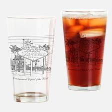 LasVegas_10x10_WelcomeSign_Black Drinking Glass