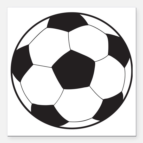 "soccerball8 Square Car Magnet 3"" x 3"""