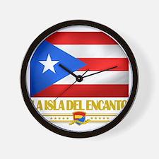 Puerto Rico (La Isla Del Ecanto) Wall Clock