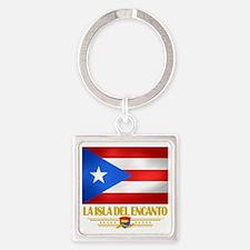 Puerto Rico (La Isla Del Ecanto) Square Keychain