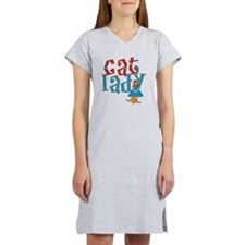 cat lady words pic-001 Women's Nightshirt