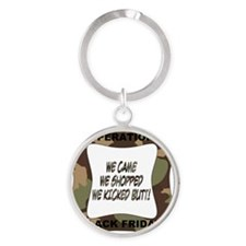 black friday green camo-001 Round Keychain