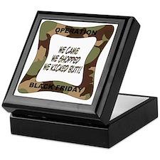 black friday green camo-001 Keepsake Box