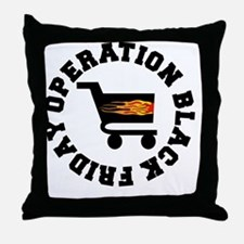 BLACK FRIDAY BLACK-001 Throw Pillow