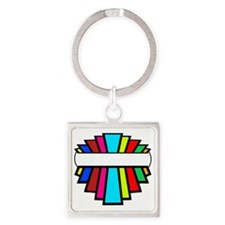 Star of the show light Square Keychain