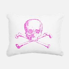 pink skull Rectangular Canvas Pillow