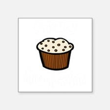 "Stud muffin light Square Sticker 3"" x 3"""